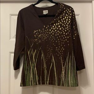 Chico's Cheetah Shimmer top